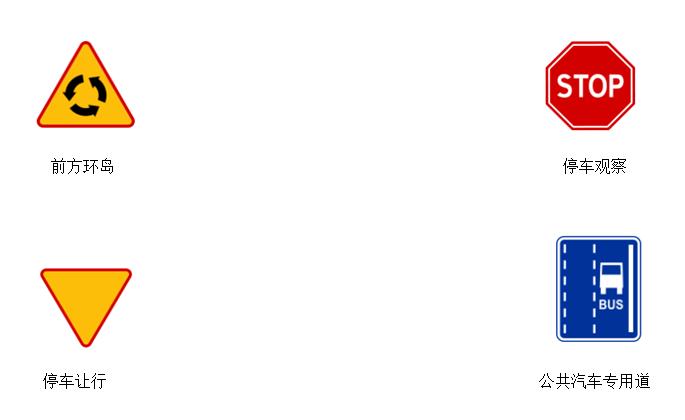 2017波兰交通标志 波兰道路交通标识图片