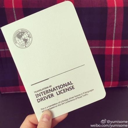 国际驾照认证件