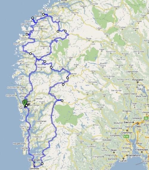 挪威自驾游 挪威自驾游路线图推荐