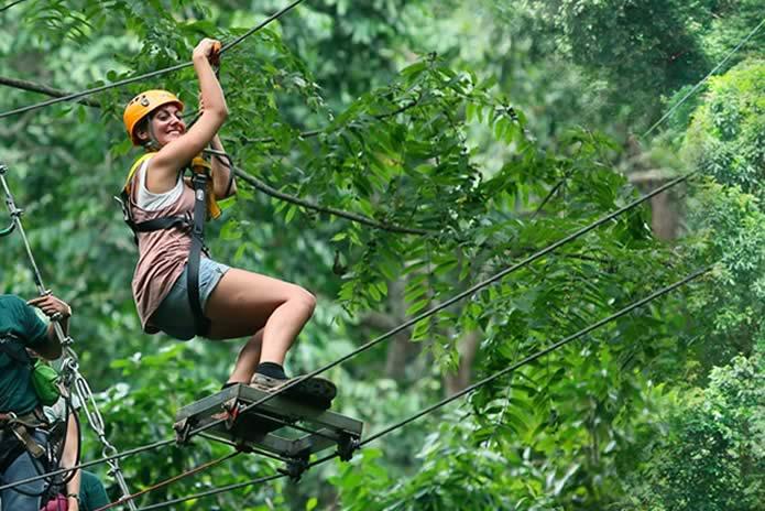 普吉岛flying hanuman丛林飞跃
