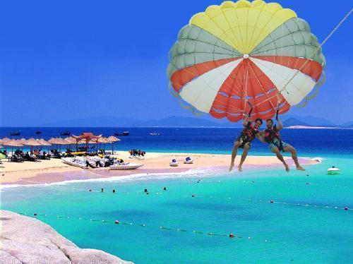 分界洲岛拖伞|三亚分界洲岛海上娱乐项目|三亚海上娱乐
