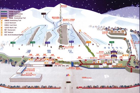 棋盘山风景区游览地图