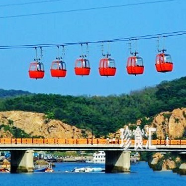 大连老虎滩海洋公园 单程索道 中国第一跨海索道 现票