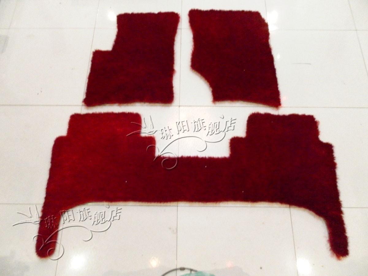 南韩冰丝车毯 保时捷卡曼脚垫 加厚长毛汽车地毯 4厘米保时捷卡宴